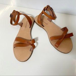 Madewell Boardwalk ankle strap sandal leather